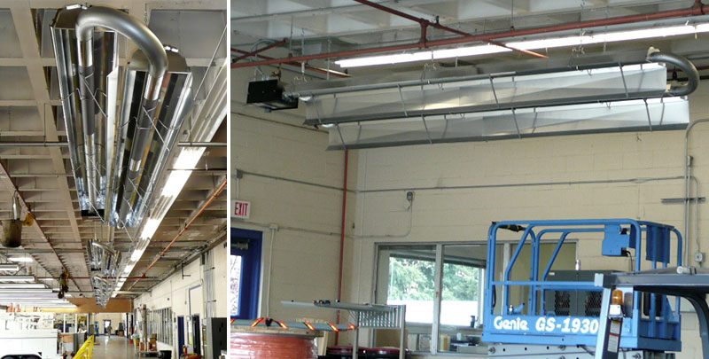 Maintenance Facility Infrared Heaters