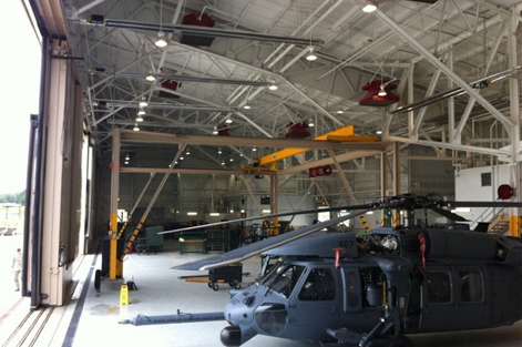 Infrared Helicopter Hangar Installation