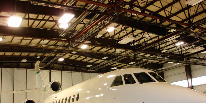 Infrared Heating Plane Hangar