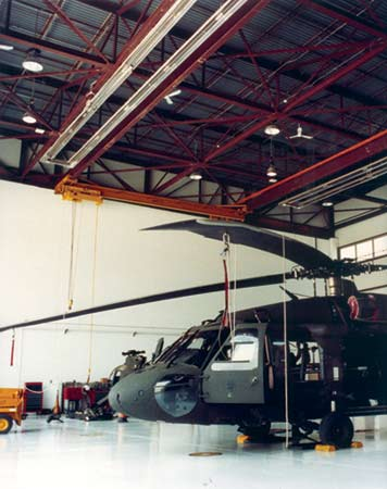 Helicopter Storage Infrared Heater