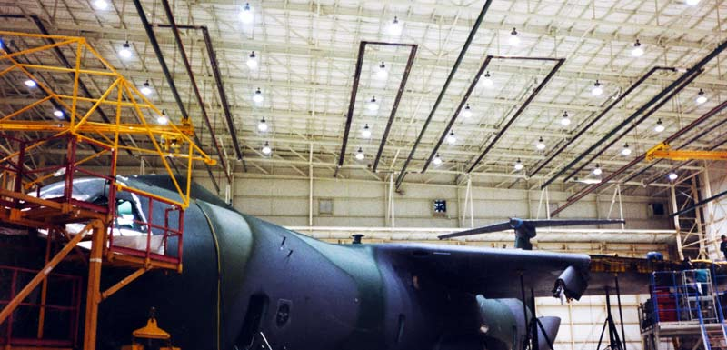 Airplane Hangar Infrared Heaters