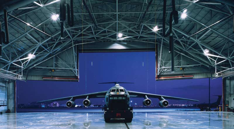 Infrared Heater Airplane Hangar