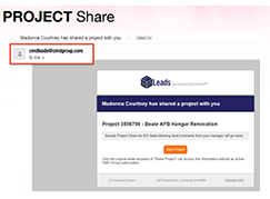 Project Share, ConstructConnect™ Insight
